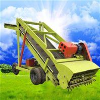 牧场饲草料青贮取料机 青储秸秆饲料取草机